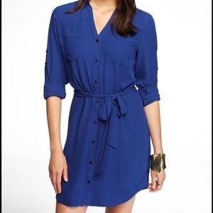 Express // Blue Button Down Dress